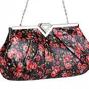 Винтаж handmade. Livemaster - original item Bright floral print clutch bag (2 colors). Italy, brand. Handmade.