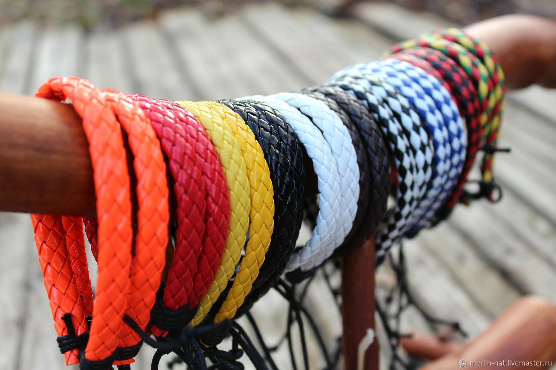 Плетеные браслеты из искусственной кожи, Браслеты, Тамбов, Фото №1