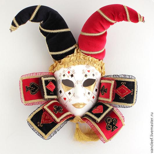 """Интерьерные  маски ручной работы. Ярмарка Мастеров - ручная работа. Купить Интерьерная венецианская маска """"Дама"""". Handmade. Ярко-красный"""