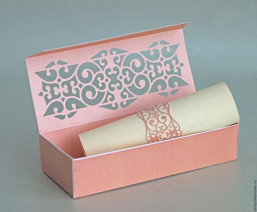 `Свиток`  свадебное приглашение . приглашения на свадьбу в стоимость входить коробочка+ приглашения  с персонализацией цвет можно сделать любой приглашения ручной работы