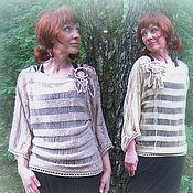 Одежда ручной работы. Ярмарка Мастеров - ручная работа Вязаная туника со шнуровкой. Handmade.
