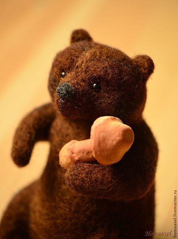Felt toy Bear with mushrooms, Felted Toy, Heidelberg,  Фото №1