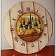 """Часы для дома ручной работы. Настенные часы """"Любимый погребок"""". Екатерина Афонина. Интернет-магазин Ярмарка Мастеров. Часы"""