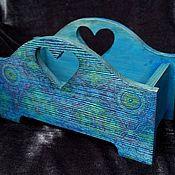Для дома и интерьера ручной работы. Ярмарка Мастеров - ручная работа Кашпо, конфетница или просто подставка БИРЮЗОВАЯ МЕЧТА. Handmade.