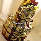 Подарки к праздникам ручной работы. Ярмарка Мастеров - ручная работа Торт из пива. Торт из банок пива. Мужской подарок. Пивной торт.. Handmade.