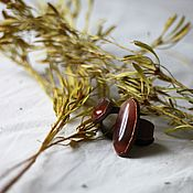 Украшения handmade. Livemaster - original item Copper ring with a red chalcedony. Handmade.
