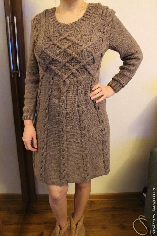 7de6ac9dc3c Платья ручной работы. Ярмарка Мастеров - ручная работа. Купить Платье  вязаное косами.
