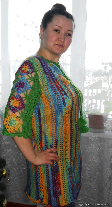 Tunic knitted. Gems. Mini dress, Tunics, Abakan,  Фото №1