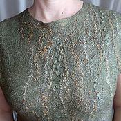 """Одежда ручной работы. Ярмарка Мастеров - ручная работа Блузка """"Блестящий мох"""". Handmade."""