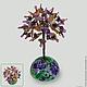 Аметистовое дерево на тагильской росписи