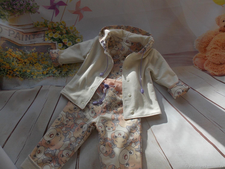Детский двухсторонний костюм из футера разм.80