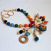 "Одежда handmade. Livemaster - original item Slingobusy rattle toy "" Rainbow turtle"". Handmade."