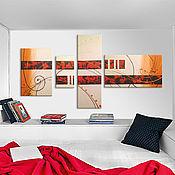 """Картины и панно ручной работы. Ярмарка Мастеров - ручная работа Модульная картина """"Современная абстракция"""". Handmade."""