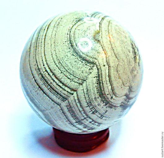 Статуэтки ручной работы. Ярмарка Мастеров - ручная работа. Купить Шар СКАРН, декоративный- 55мм.. Handmade. Бежевый, шар из камня