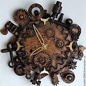"""Для дома и интерьера ручной работы. Ярмарка Мастеров - ручная работа Часы в стиле """"стимпанк"""". Handmade."""