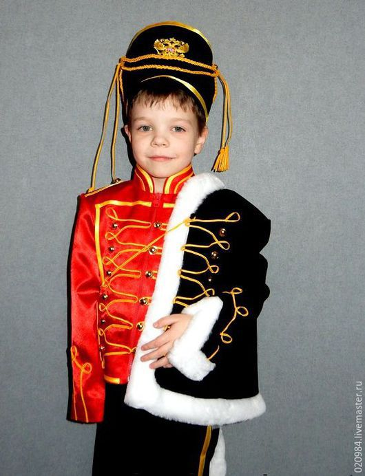 Детские карнавальные костюмы ручной работы. Ярмарка Мастеров - ручная работа. Купить гусар. Handmade. Ярко-красный, гусар