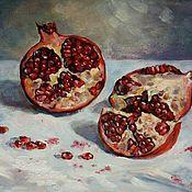 Картины и панно handmade. Livemaster - original item Still life with pomegranate. Handmade.