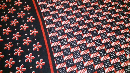 Шитье ручной работы. Ярмарка Мастеров - ручная работа. Купить Африканская ткань Khanga. Handmade. Черный, африка, африканский цветок