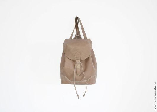 Рюкзаки ручной работы. Ярмарка Мастеров - ручная работа. Купить Рюкзак. Handmade. Бежевый, женский рюкзак, кофейный, среднего размера