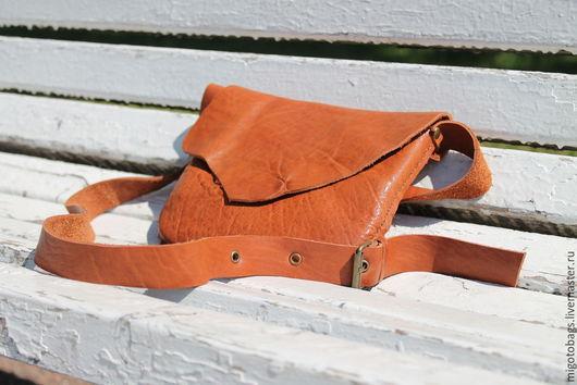 Женские сумки ручной работы. Ярмарка Мастеров - ручная работа. Купить кожаная сумка ручной работы коричневая 3+. Handmade.