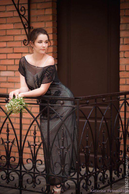 Платья ручной работы. Ярмарка Мастеров - ручная работа. Купить Платье № I. Handmade. Черный, платье черное