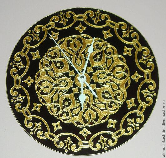 """Часы для дома ручной работы. Ярмарка Мастеров - ручная работа. Купить Часы настенные """"Торжественные"""". Handmade. Золотой, торжественный"""