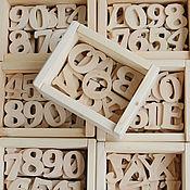 Куклы и игрушки ручной работы. Ярмарка Мастеров - ручная работа Английский алфавит из дерева, деревянный алфавит, азбука, чтение. Handmade.