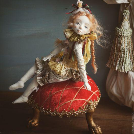 Коллекционные куклы ручной работы. Ярмарка Мастеров - ручная работа. Купить Мия. Авторская шарнирная кукла. Handmade. Золотой, кукла