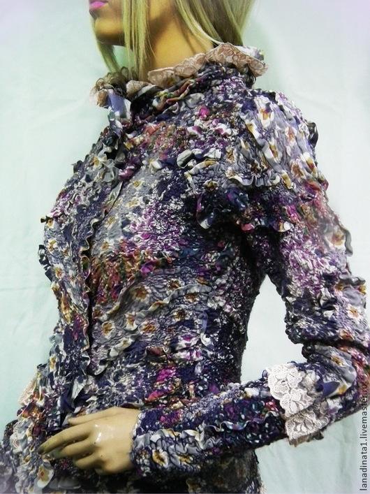 """Пиджаки, жакеты ручной работы. Ярмарка Мастеров - ручная работа. Купить Жакет """"FIORI  di FIRENZE"""" ,нуновойлок.. Handmade."""
