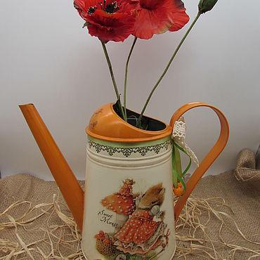 Цветы и флористика ручной работы. Ярмарка Мастеров - ручная работа Лейка для полива цветов, декоративная ваза для сухоцвета. Handmade.