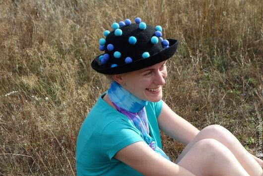 Шляпы ручной работы. Ярмарка Мастеров - ручная работа. Купить Модель № 23 Дождливым вечером. Handmade. Черный