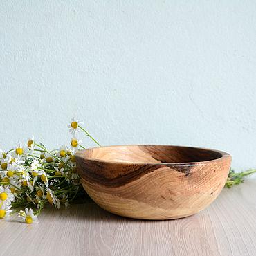Посуда ручной работы. Ярмарка Мастеров - ручная работа Деревянная салатница, чаша. Handmade.