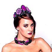 Украшения handmade. Livemaster - original item Kokoshnik crown with roses in the style of Dolce Gabbana. Handmade.