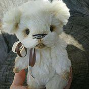 Куклы и игрушки ручной работы. Ярмарка Мастеров - ручная работа Милки - мишка из шелка. Handmade.