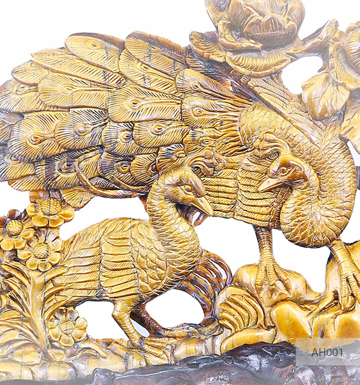 ИДЕАЛЬНЫЙ ПОДАРОК на  СВАДЬБУ *Скульптура выполнена из цельного куска минерала -  ТИГРОВЫЙ ГЛАЗ