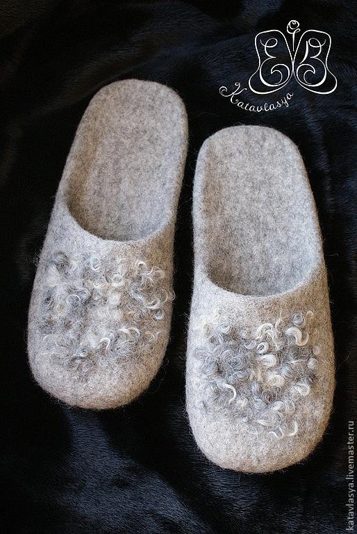 """Обувь ручной работы. Ярмарка Мастеров - ручная работа. Купить Тапки мужские """"40 тысяч лет до н.э"""". Handmade."""