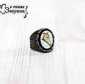 Украшения handmade. Livemaster - original item Signet ring in vintage frame Horse. Handmade.