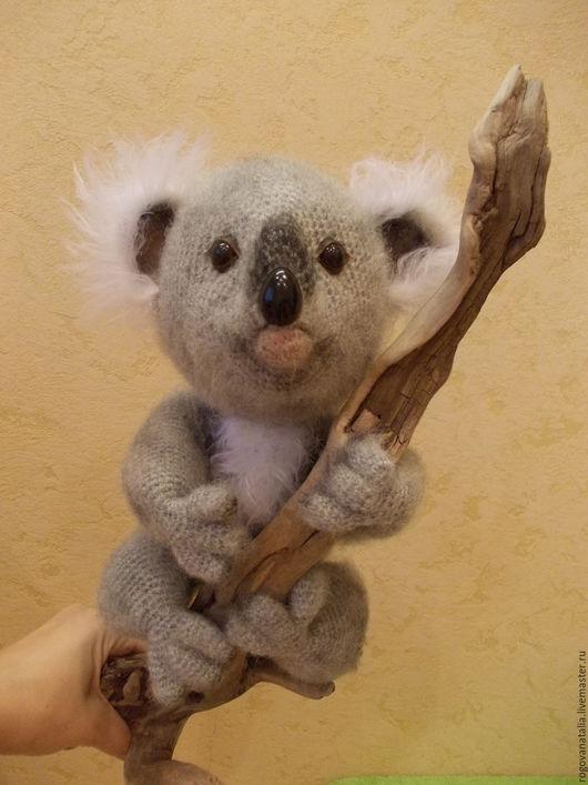 """Игрушки животные, ручной работы. Ярмарка Мастеров - ручная работа. Купить """"Коала"""". Handmade. Серый, коала в подарок, проволочный каркас"""