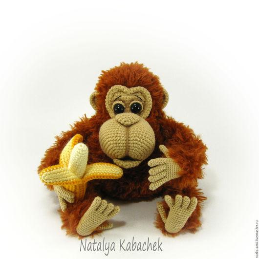 Игрушки животные, ручной работы. Ярмарка Мастеров - ручная работа. Купить Орангуташа ( вязаная игрушка). Handmade. Коричневый, амигуруми