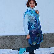 """Одежда ручной работы. Ярмарка Мастеров - ручная работа """"Этюд"""". Удлиненный валяный жилет. Handmade."""