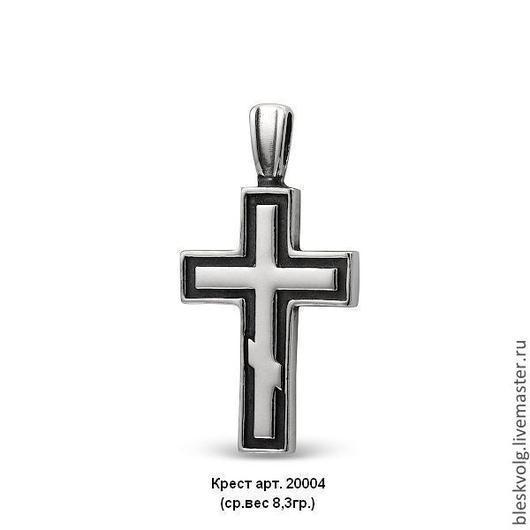 С чернением ( оксидирование )  Обе стороны крестика одинаковые  (есть клеймо мастерской и красносельской пробирной инспекции )