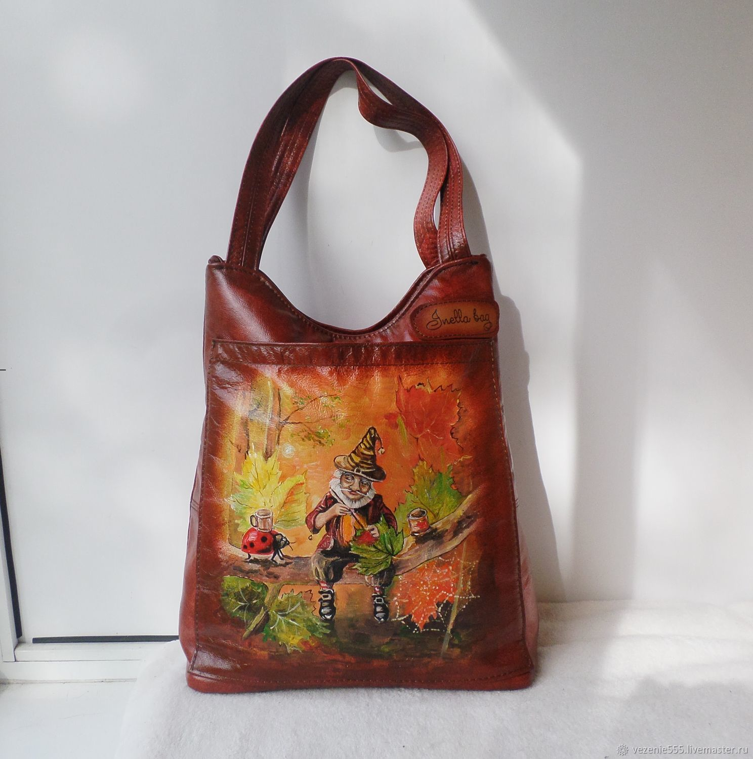 Leather women's bag with painting to order for Svetlana, Classic Bag, Noginsk,  Фото №1
