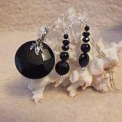 Украшения handmade. Livemaster - original item Black onyx in 925 sterling silver set. Handmade.