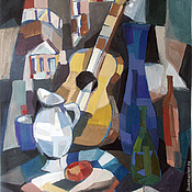 Картины и панно ручной работы. Ярмарка Мастеров - ручная работа Картина. Натюрморт с гитарой. Handmade.