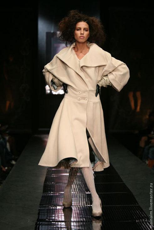 Верхняя одежда ручной работы. Ярмарка Мастеров - ручная работа. Купить Пальто из кашемира. Handmade. Бежевый, на заказ, пальто из шерсти