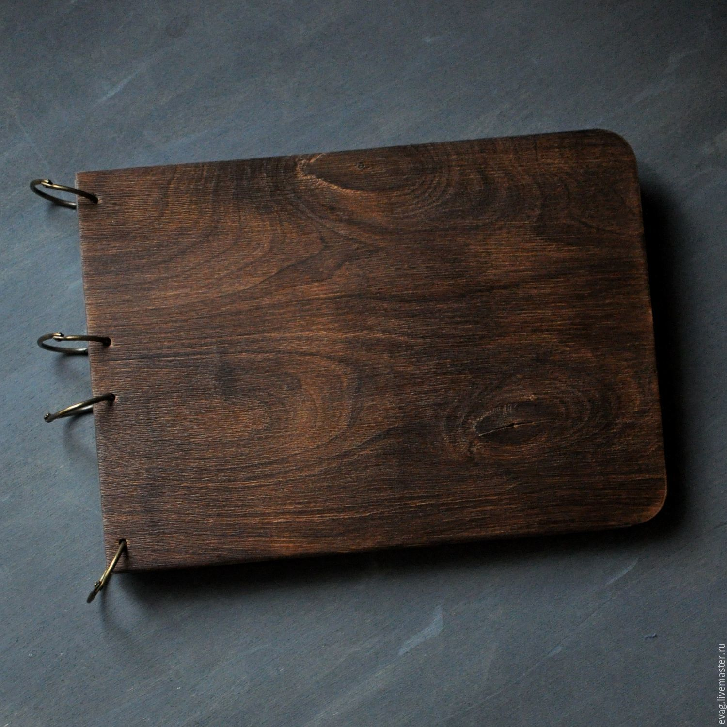 Notepad brushed wooden covers, Notebooks, Moscow,  Фото №1