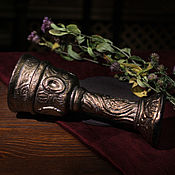 Посуда handmade. Livemaster - original item Black Castle`s Golden Goblet (VI). Handmade.