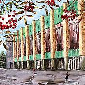 Картины и панно handmade. Livemaster - original item Oil painting with city city streets. Handmade.