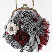 Сумки и аксессуары ручной работы. Ярмарка Мастеров - ручная работа Сумка женская. Лепестки красных роз. Handmade.
