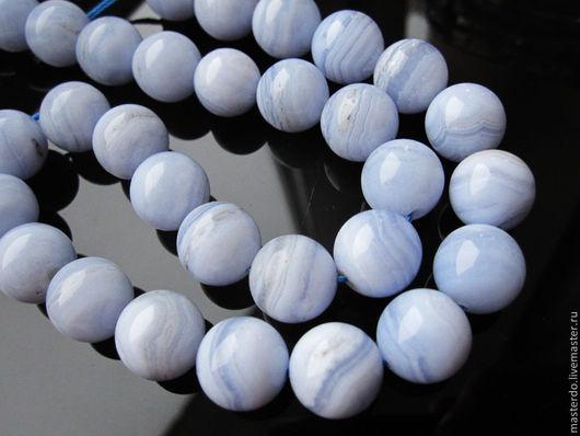 Для украшений ручной работы. Ярмарка Мастеров - ручная работа. Купить КРУЖЕВО НЕБА Голубой Халцедон 12 мм. Handmade.